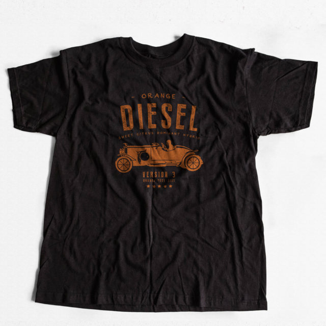 Orange Diesel Discreet Cannabis T Shirt