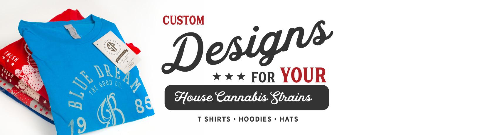 WHOLESALE CONTACT Strain Printed Discreet Cannabis T Shirts